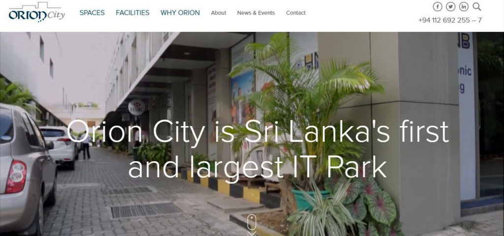 orion city website view
